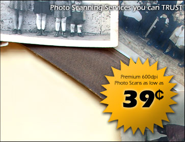 Photo Scanning Services you can Trust.